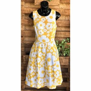 Dress Barn Yellow Dress With White Flowers